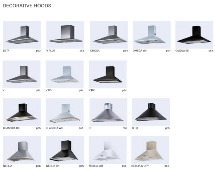 cata decorative hoods